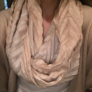 Accessories - GOLD SHIMMER INFINITY SCARF
